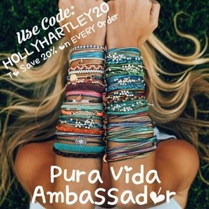 Pura Vida Brand Ambassador REP Code HOLLYHARTLEY20
